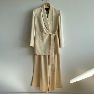 Vintage Donna Karen Black Label Silk Pant Suit